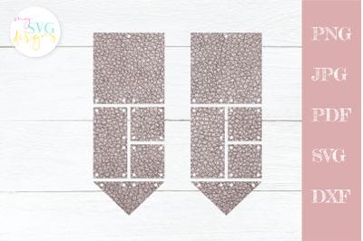 Leather earrings svg, Geometric earring svg