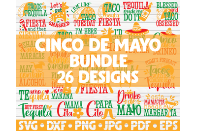 Cinco de mayo SVG Bundle | 26 designs