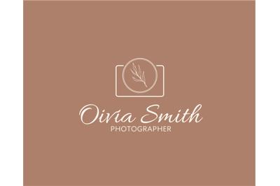 LOGO design, Photography, logo template,simple and elegant, geometric botanical
