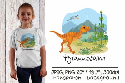 Tyrannosaur - sublimation design PNG