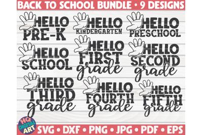 Back to school SVG Bundle   9 designs