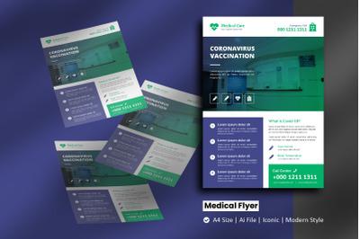 Global Medical Vaccination Flyer Brochure Template