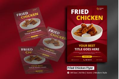 Fried Chicken Flyer Brochure Template