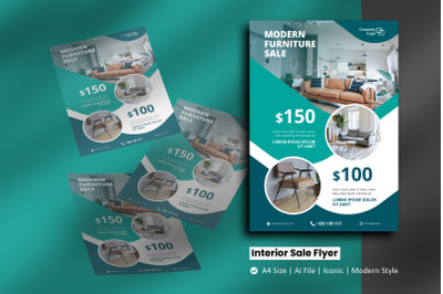 Interior Products Sale Flyer Brochure Template