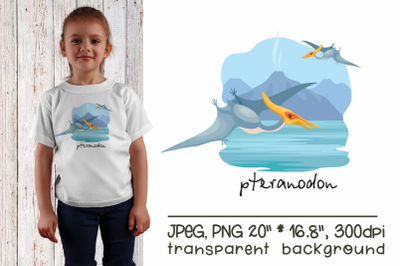 Pteranodon - sublimation design PNG
