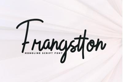 Frangstton - Monoline Script Font
