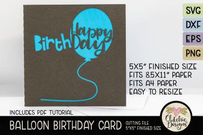 Happy Birthday Card SVG Cutting File