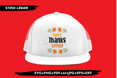 Happy Thanks Giving SVG