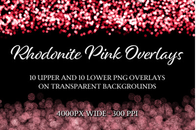 Rhodonite Pink Overlays - 10 Upper and 10 Lower Overlays