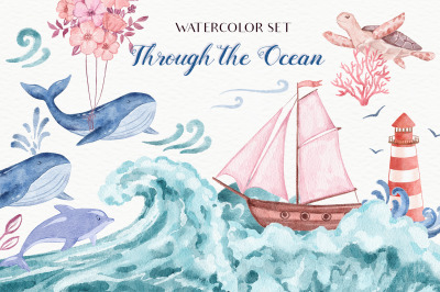 Through the Ocean - Watercolor Set