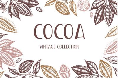 Vintage Vector Cocoa Set