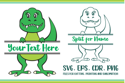 Tyrannosaurus Split for name Svg