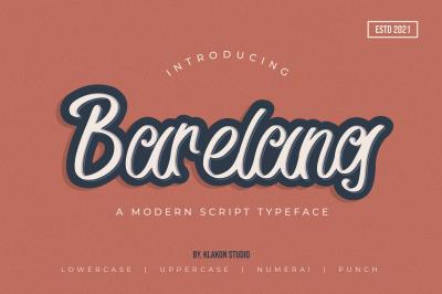 Barelang - A Modern Script Typeface
