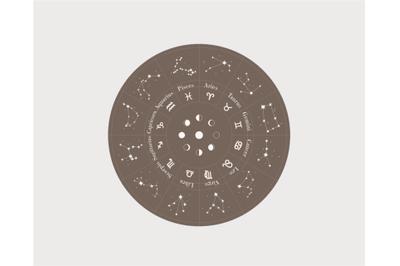 Starry sky, astrological set, constellation svg, mystical bundle, cons