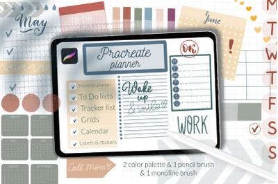 Procreate planner brushes. Basic kit. Digital planner, digital sticker
