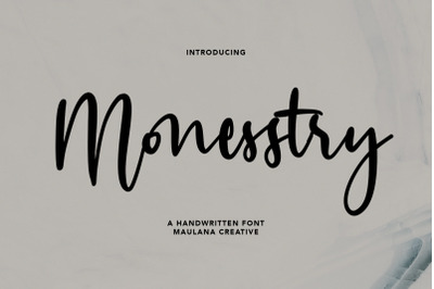 Monesstry Handwritten Script