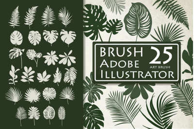 Tropical Leaves Brushes for Adobe Illustrator