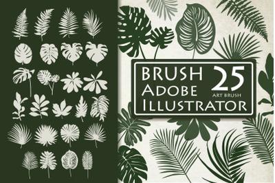 Tropical Leaves Brushes for Adobe Illustrator
