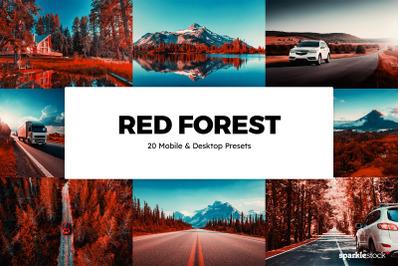 20  Red Forest LR Presets