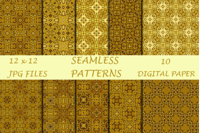 Gold Digital Papers