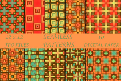 Colorful Geometric Digital Paper