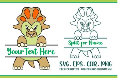 Montanoceratops Split For Name SVG