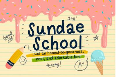 Sundae School Font