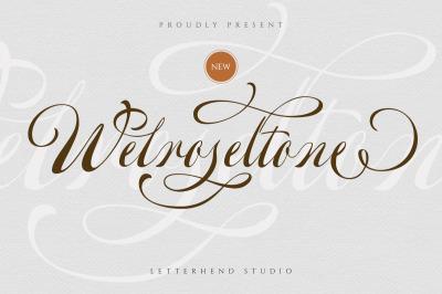 Welroseltone - Unique Script Font