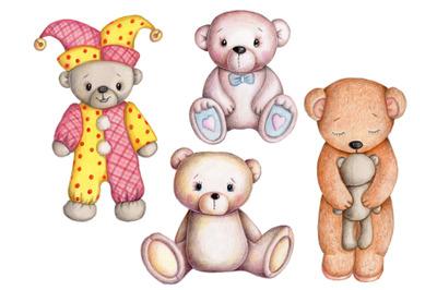 Set of four Teddy Bears