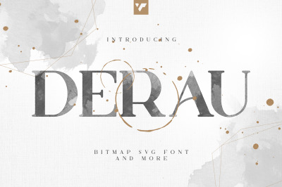 Derau - Bitmap svg font and more