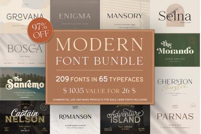 Modern Font Bundle