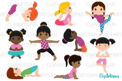 Yoga Clip Art, Yoga Poses Girls, Yoga Kids, Meditation