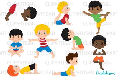 Yoga Clip Art, Yoga Poses Boys, Yoga Kids, Meditation