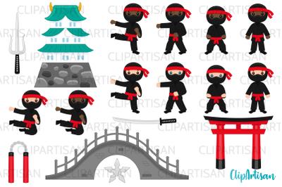 Ninja Clipart, Cute Ninjas Clip Art