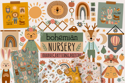 Bohemian nursery collection