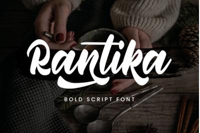 Rantika - Bold Script