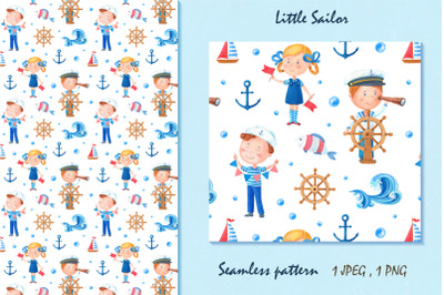 Little Sailor,seamless pattern