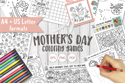 Mother's Day Coloring Games