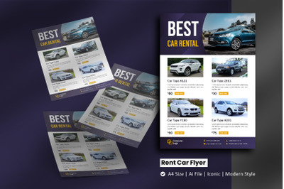 Rent Car Flyer Promotion Template