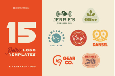 15 Retro Logos and Badges