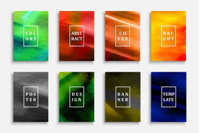 Abstract colorful gradient posters