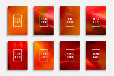 Bright colorful gradient covers