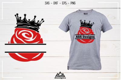 Rose Flower Svg, Dxf, Eps, Png, Cutting File Design