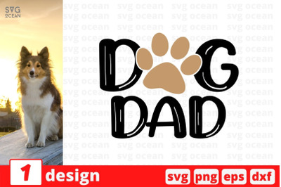 Dog dad SVG Cut File