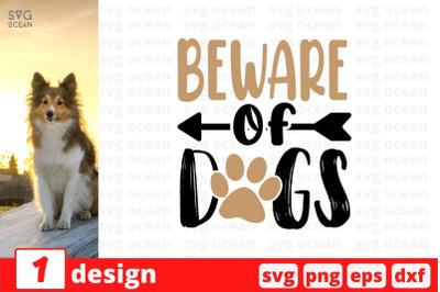 Beware of dogs SVG Cut File