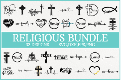 Religious Svg Bundle, Jesus Christ Svg, Faith Svg, Easter Svg