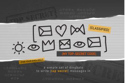 My Top Secret Code Font