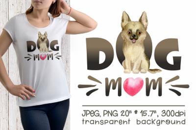 German Shepherd - Dog Mom Sublimation Design