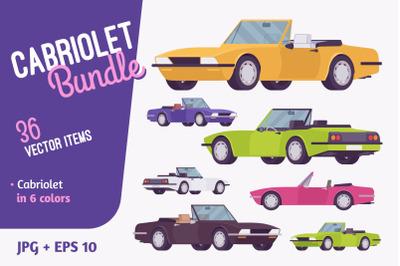 Cabriolet car vehicle bundle
