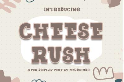 Cheese Rush Display Font
